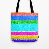 miami Tote Bags featuring Miami by Saundra Myles