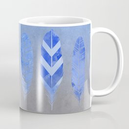 Blue Feather watercolor art Coffee Mug