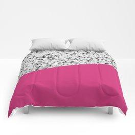 Granite and Pink Yarrow Color Comforters