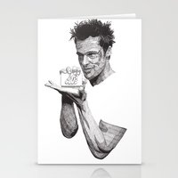 tyler durden Stationery Cards featuring Tyler Durden II by Rik Reimert