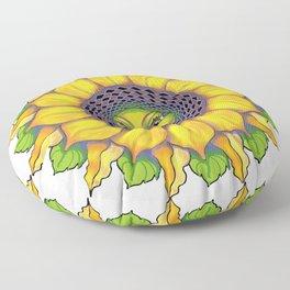 Sunflower Sunshine Girl by Amanda Martinson Floor Pillow