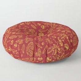 Acorns and Leaves Floor Pillow