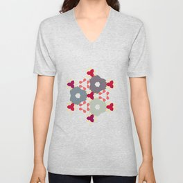 Kaleidoscope Flowers Autumn Unisex V-Neck