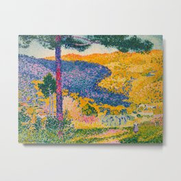 Henri-Edmond Cross Neo-Impressionism Pointillism Valley with Fir Shade on the Mountain Oil Painting Metal Print
