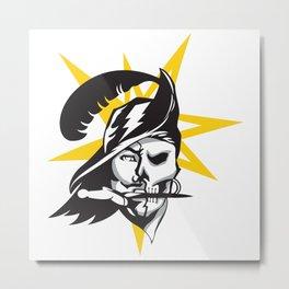 Tampa Sports V3 Black w/ yellow star Metal Print