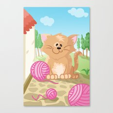 Cat from the Land of the Three Canvas Print