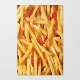 Fries & Ketchup Canvas Print