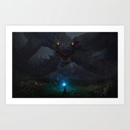 Swamp Dragon Art Print