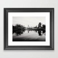 Chicago Skyline from South Pond Framed Art Print