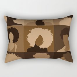 FOR BROWN GIRLS COLLECTION COLLAGE Rectangular Pillow