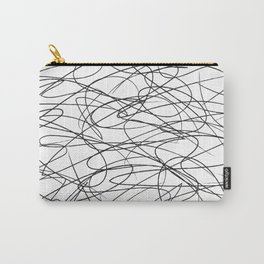 Hand Drawn Scribbles (black/white) Carry-All Pouch