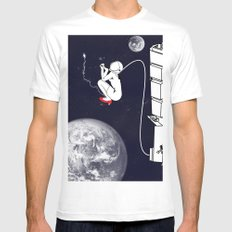 Pee on the space! Mens Fitted Tee White MEDIUM
