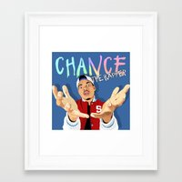 chance the rapper Framed Art Prints featuring Chance The Rapper by MikeHanz