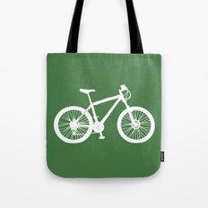 Mountain Bike Green Tote Bag