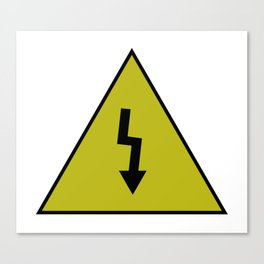 electric current danger signal Canvas Print