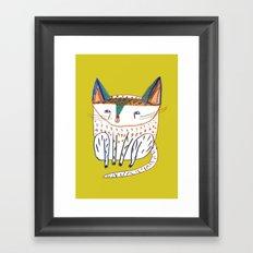 Cat. cats, kitten, cat art, cat illustration, cat pattern Framed Art Print