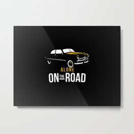 alone on the road Metal Print