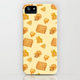 Android Eats: honeycomb pattern iPhone Case