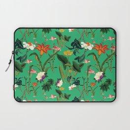 Vintage wild flowers green Laptop Sleeve