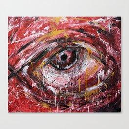 Left red eye Canvas Print