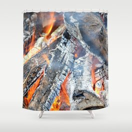 fire, ember and ash Shower Curtain