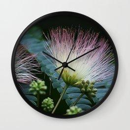 Mimosa Blossoms Wall Clock