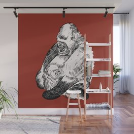 Gorilla and Baby Wall Mural