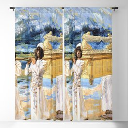 12,000pixel-500dpi - James Tissot - The Ark Passes Over the Jordan - Digital Remastered Edition Blackout Curtain