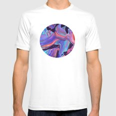 untitled abstract MEDIUM Mens Fitted Tee White