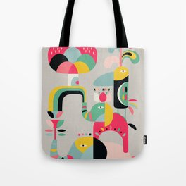 Jungle of elephants Tote Bag