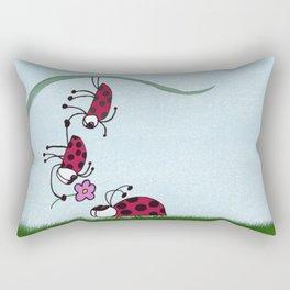 Ladybug Professing His Love Rectangular Pillow
