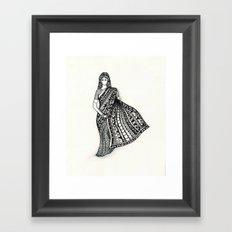 sari Framed Art Print