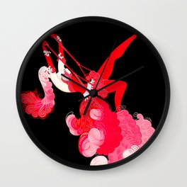 "Art Deco Illustration ""Trapeze"" by Erté Wall Clock"