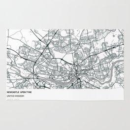 Newcastle Upon Tyne, United Kingdom - City Map Rug