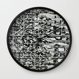 Variance Police (P/D3 Glitch Collage Studies) Wall Clock