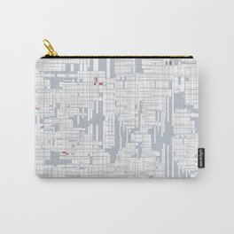 Grid in Grey Carry-All Pouch