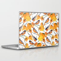 lindsay lohan Laptop & iPad Skins featuring Birds in Autumn by Jacqueline Maldonado