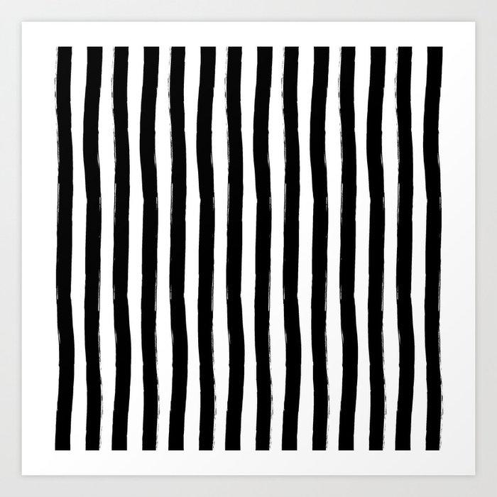 Black and White Cabana Stripes Palm Beach Preppy Art Print