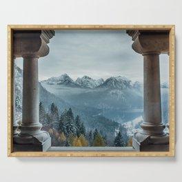 The view - Neuschwanstin casle Serving Tray