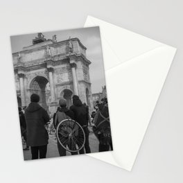 Cyclists, Le Louvre, Paris Stationery Cards