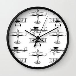 Biplanes Wall Clock
