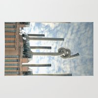 industrial Area & Throw Rugs featuring Industrial Brezel by CrismanArt