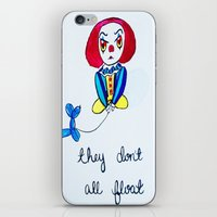 pennywise iPhone & iPod Skins featuring Pessimistic Pennywise by Ashley Petersen