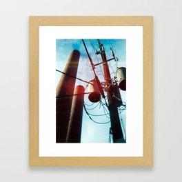 Power Lines Framed Art Print
