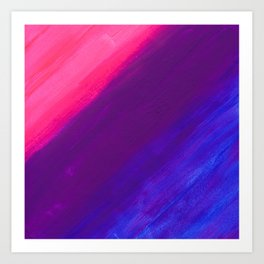 Dark and Dreamy Sunset Colors Art Print