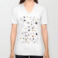 universe V-neck T-shirts featuring Universe by Marta Olga Klara