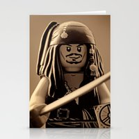 jack sparrow Stationery Cards featuring I am Captain Jack Sparrow by plopezjr