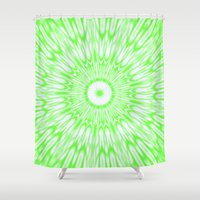 lime green Shower Curtains featuring Lime by Simply Chic