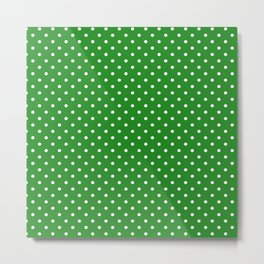 Dots (White/Forest Green) Metal Print