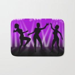Dancing Girls On Purple With White Lights Bath Mat